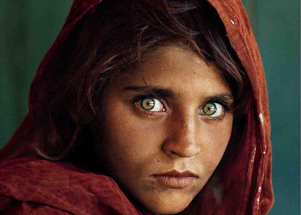 ... this is a special on the Afghani Girl known as the Green-Eyed Girl